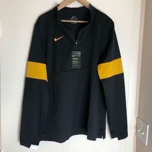 Nike Therma Black Yellow Dri-Fit 1/4 Zip Pullover